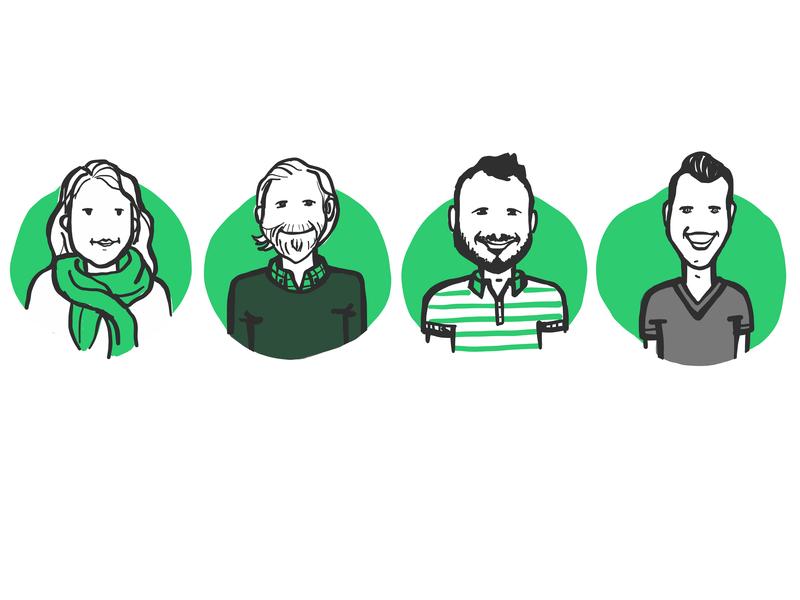 Team Avatars handrawn apple pencil adobe draw adobe sketch ipad pro character design company culture illustration team blog yieldr avatars