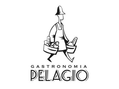 Pelagio italian food logo brand