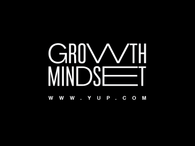 GROWTH MINDSET stretched font typography