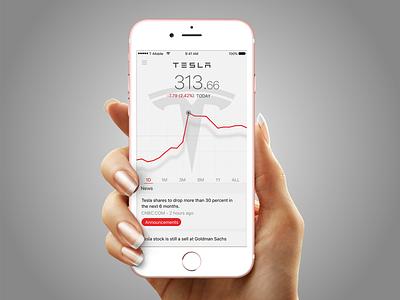Telsa Trading app trading stocks shares