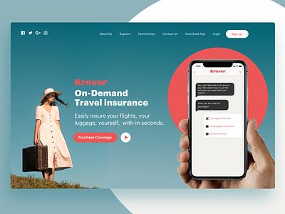 Krover insurance landing branding logo insurance