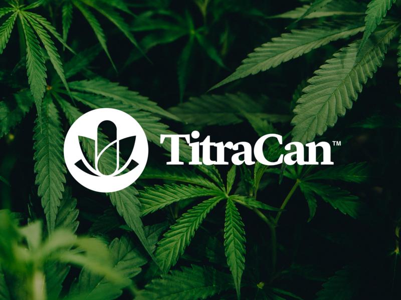 TitraCan medical cannabis logo branding