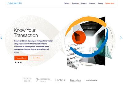 Identitii design banking crypto abstract header