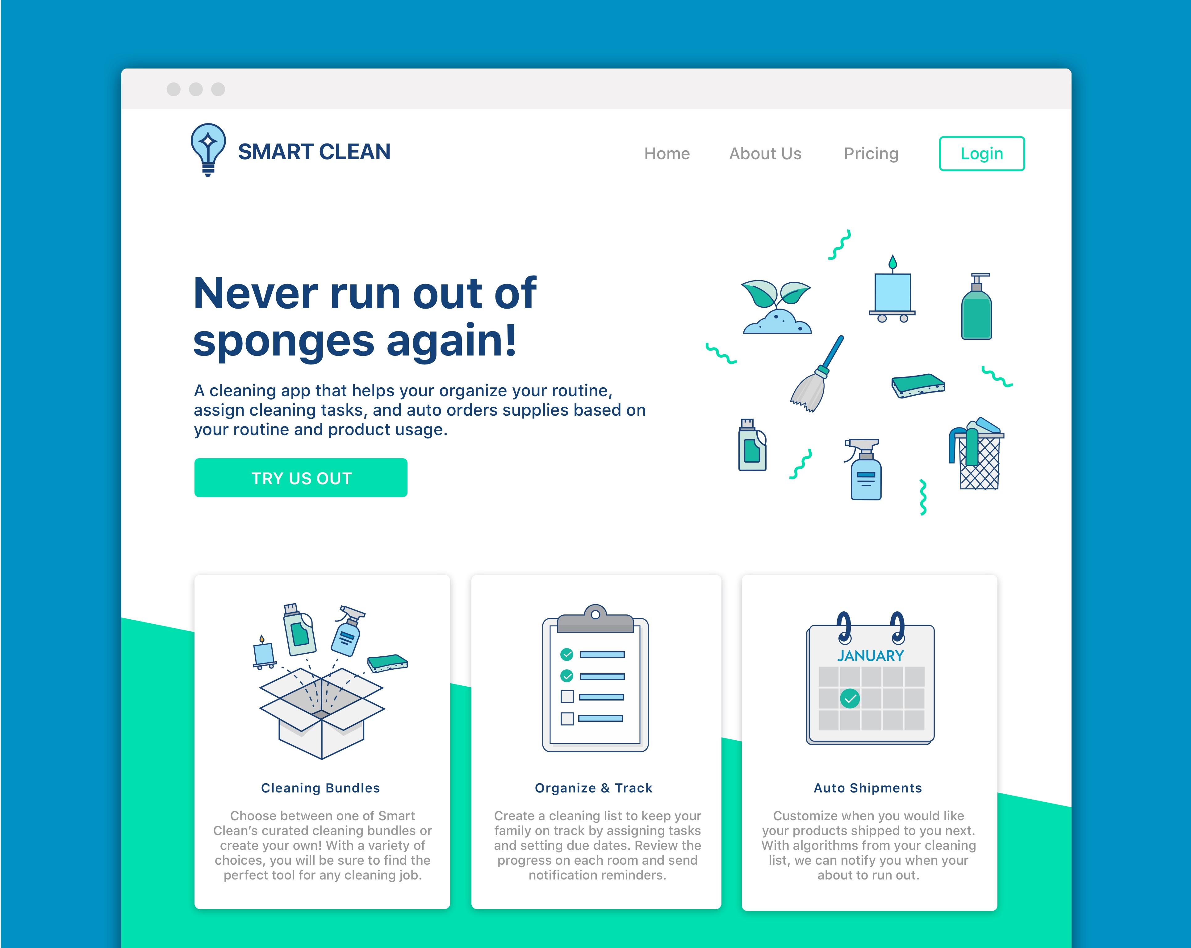 Alexandra Geller Projects Smart Clean Dribbble