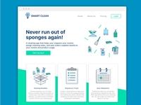 Smart Clean Website Concept
