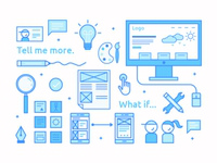 Visual + UX Designer Business Cards