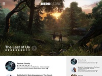 NerdRating.com Website Concept (Better view)