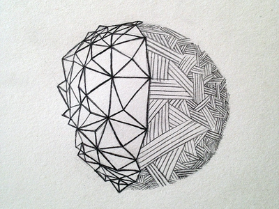 Sketch Meditation Day 14 freehand sketch illustration drawing meditation pattern circle moon earth polygons zendoodle low poly