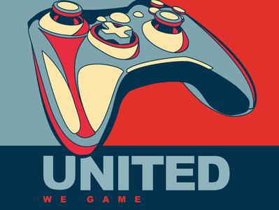 United We Game logo, designed in 2010 gaming xbox vector illustration branding logo