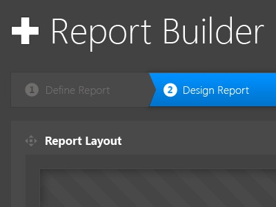 Scrapped Report builder UI ui reports business intelligence software design