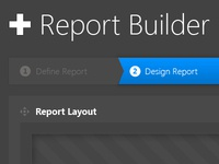 Scrapped Report builder UI