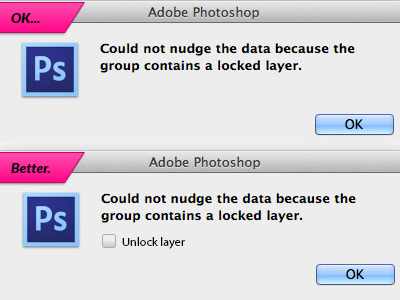 Better Locked Layer Alert photoshop ui usability suggestion idea improvement software design ui design useful ux