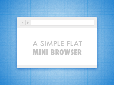 A Simple Flat Mini Browser mini browser browser flat ui elements ui freebies