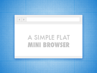 A Simple Flat Mini Browser