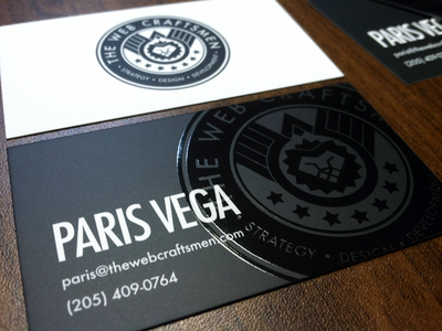 The Web Craftsmen's business cards are here!