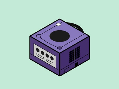 gamecube nostalgia memories gamecube isometric illustration vector