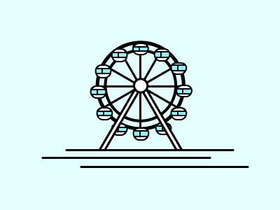 ferris wheel ferris wheel illustration vector