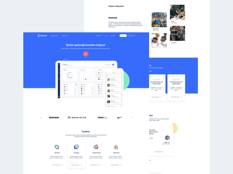 Kolay Website landing page mobile saas startup human resources website web illustration ux ui
