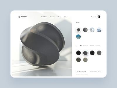 Pulver : Render Showcase website render landing page web design pulver powder coat architecture digital catalog color series