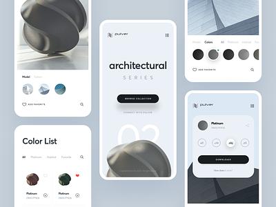 Pulver : Render Showcase Responsive website mobile ui mobile landing design web design pulver powder coat architecture digital catalog color series