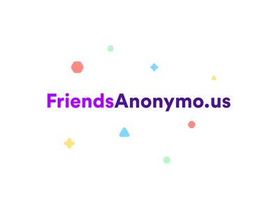 Announcing FriendsAnonymo.us community identity branding logo