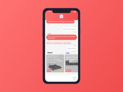 Shopbot Interface thread message bot shop ecommerce