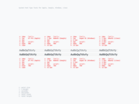 System Font Structure Experiment
