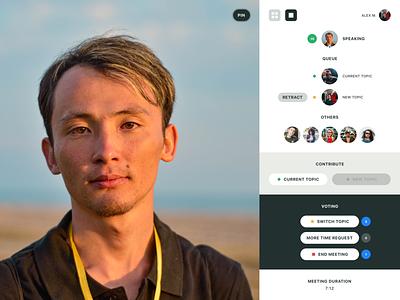 Baton Video Meeting App Concept ui concept app meeting app conferencing meeting video