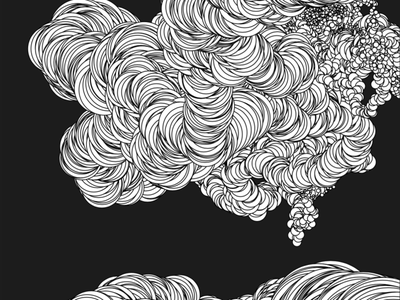 Smoke and landscape illustration generative art illustration procreate p5js