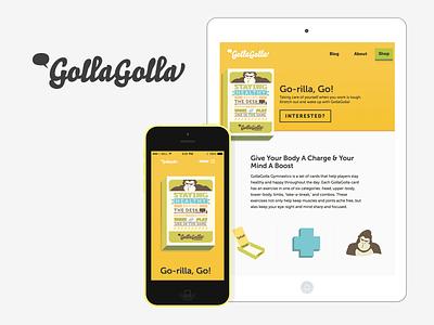 GollaGolla responsive cards yellow illustration web design