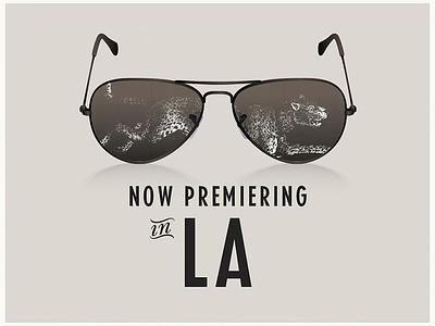 Momentum Search Los Angeles vector illustration animal typography