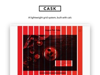 Cask – A lightweight grid system built with calc