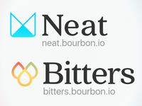 Neat & Bitters logo revs
