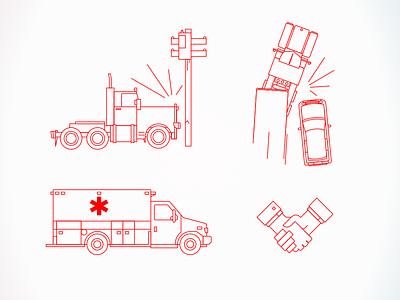 Vehicle accident illustrations illustration vector truck car