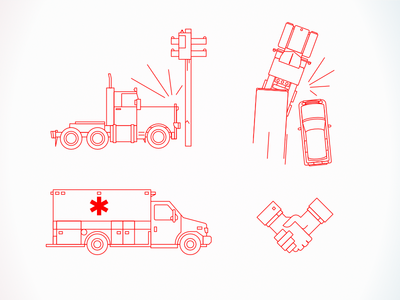 Vehicle accident illustrations illustration vector truck car