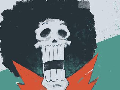 Brook 💀 fan art color skull illustration
