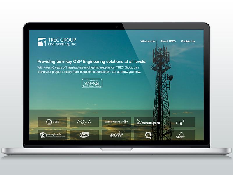 TREC Group Redesign telecom marketing engineering website