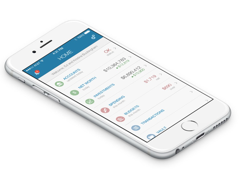 Mobile finance dashboard mobile