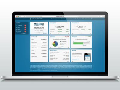 Client Site Dashboard investments data dashboard finance