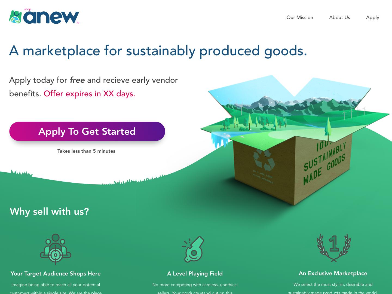 EcoAnew.com original landing page webdesign landing page landingpage