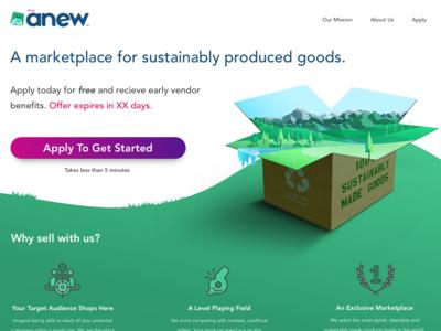 EcoAnew.com original landing page