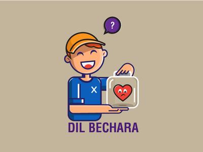 Dil Bechara india vector poster design illustration
