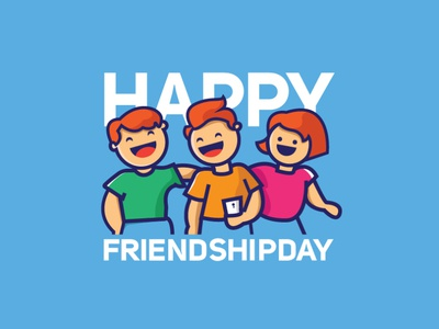 Friendship Day poster vector logo design graphic illustration