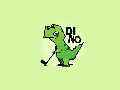 Dino logo gradient character design design illustration