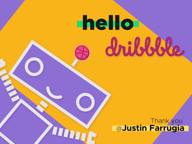 Yo Dribbble noob player craftydroid robot droid first shot hello dribbble