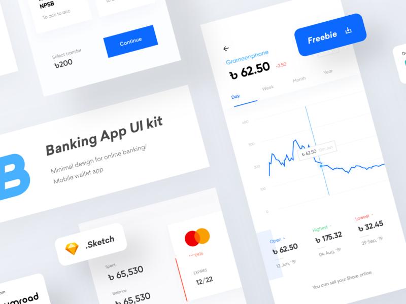 Banking/Wallet App UI Kit | Freebie
