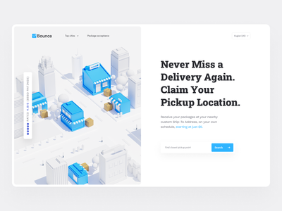 Receive package anywhere | Pickup package anytime minimal ui city 3d 3d package package acceptance hero 3d hero package hero package storage landing page package delivery ui package storage ui package ui package delivery receive package package acceptance