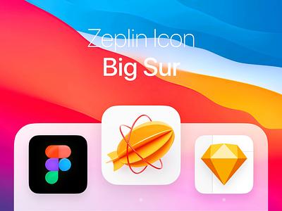 Zeplin Icon - macOS Big Sur 3d app icon animated app icon app icon 3d animation animated icon macos ioc os icon zeplin icon 3d icon big sur icon