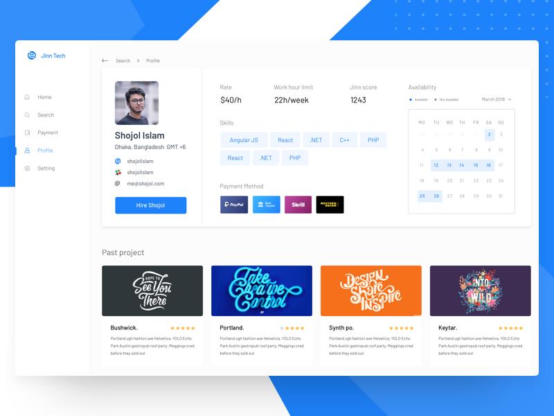 Developer Profile for Hire