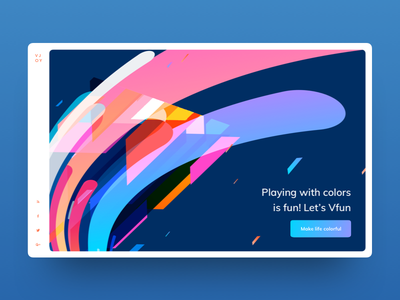Colorful header exploration landing page header exploration exploration illustration unique header illustration header color illustration header ui colorful ui